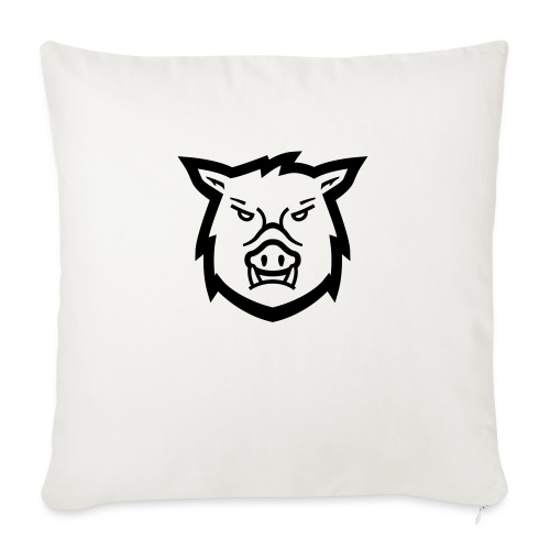"hog track jacket - Throw Pillow Cover 18"" x 18"""