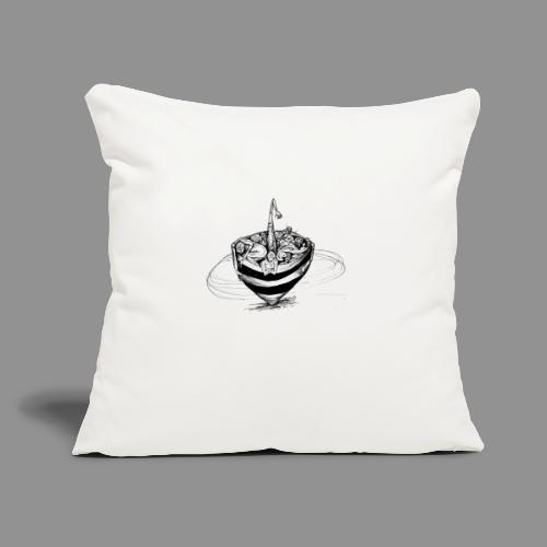 "Wolfman Originals Black & White 15 - Throw Pillow Cover 17.5"" x 17.5"""