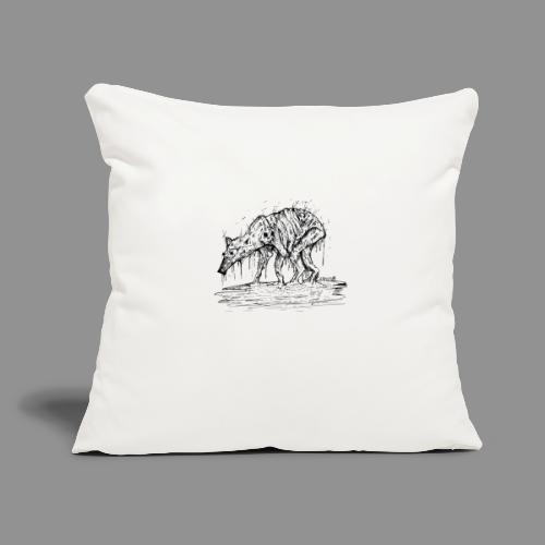 "Wolfman Originals Black & White 13 - Throw Pillow Cover 17.5"" x 17.5"""