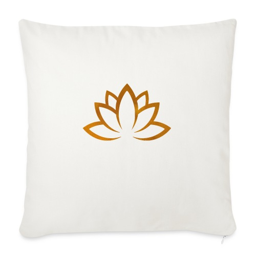 """Lotus flower gold - Throw Pillow Cover 18"""" x 18"""""""