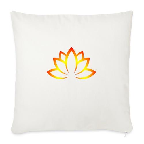 "Lotusn firery orange - Throw Pillow Cover 18"" x 18"""