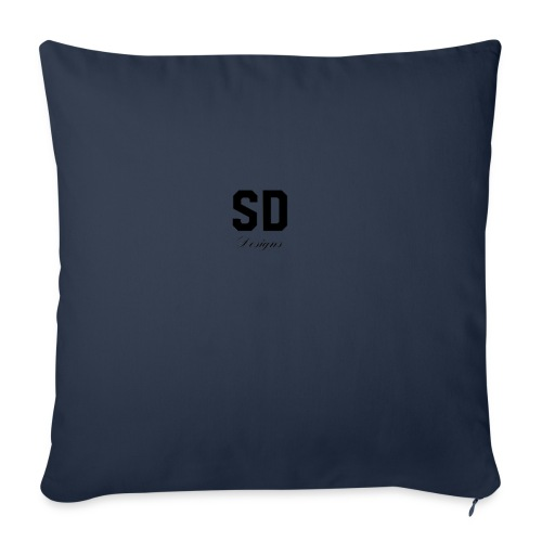 "SD Designs blue, white, red/black merch - Throw Pillow Cover 18"" x 18"""