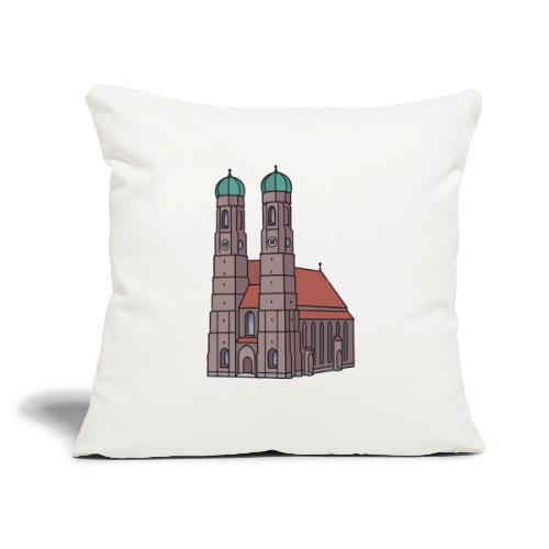 """Munich Frauenkirche - Throw Pillow Cover 17.5"""" x 17.5"""""""
