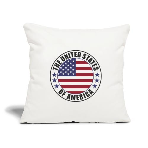 """The United States of America - USA - Throw Pillow Cover 17.5"""" x 17.5"""""""
