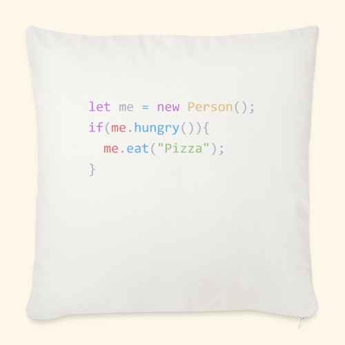 """Pizza Code - Colored Version - Throw Pillow Cover 18"""" x 18"""""""