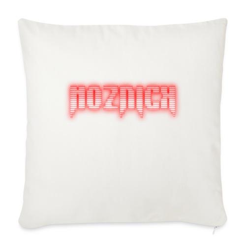 "TEXT MOZNICK - Throw Pillow Cover 18"" x 18"""