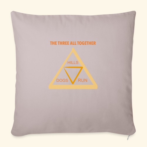 """Run4Dogs Triangle - Throw Pillow Cover 18"""" x 18"""""""