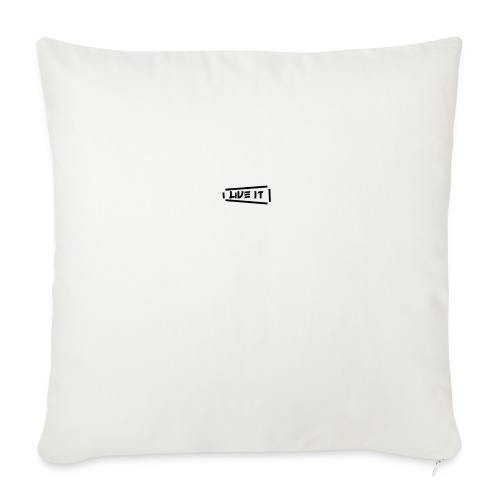 """Live It V1 - Throw Pillow Cover 18"""" x 18"""""""
