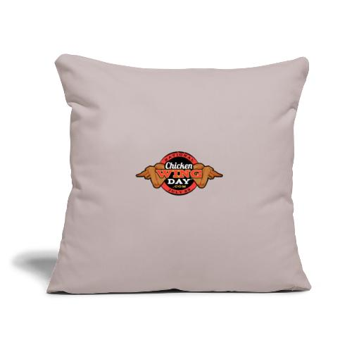 "Chicken Wing Day - Throw Pillow Cover 17.5"" x 17.5"""
