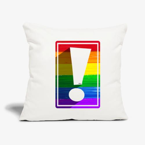 """LGBTQ Pride Exclamation Point - Throw Pillow Cover 17.5"""" x 17.5"""""""