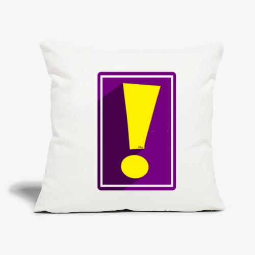 """Purple Whee! Shadow Exclamation Point - Throw Pillow Cover 17.5"""" x 17.5"""""""