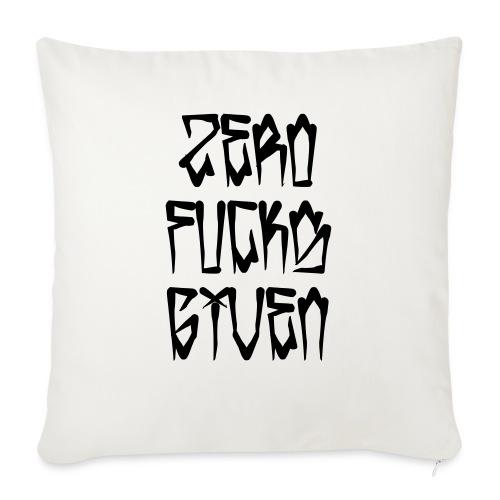 """Zero Fucks Given - Throw Pillow Cover 18"""" x 18"""""""