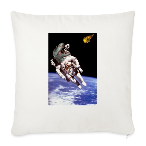 """how dinos died - Throw Pillow Cover 17.5"""" x 17.5"""""""