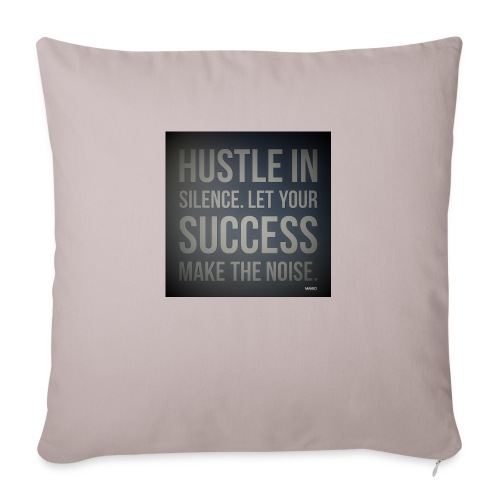 "HUSTLE2 - Throw Pillow Cover 18"" x 18"""