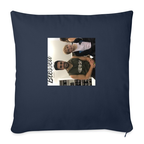 """me with gorge janko - Throw Pillow Cover 17.5"""" x 17.5"""""""