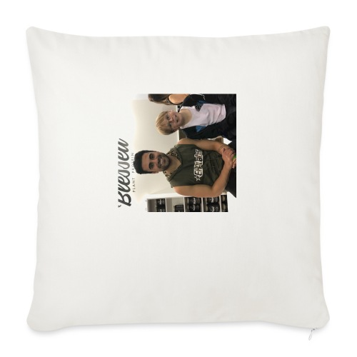 """me with gorge janko - Throw Pillow Cover 18"""" x 18"""""""