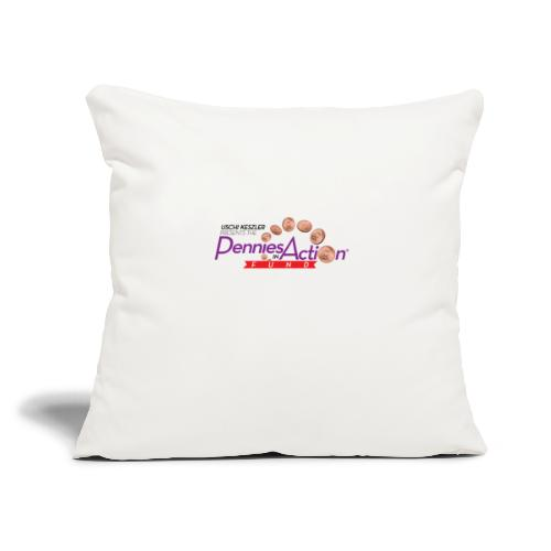"""Pennies In Action Logo - Throw Pillow Cover 17.5"""" x 17.5"""""""