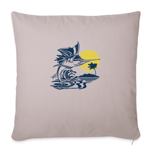 "Sailfish - Throw Pillow Cover 18"" x 18"""