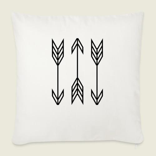 """arrow symbols - Throw Pillow Cover 18"""" x 18"""""""