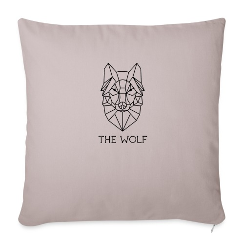 """The Wolf - Throw Pillow Cover 18"""" x 18"""""""