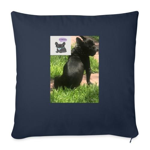 "french bulldog - Throw Pillow Cover 18"" x 18"""