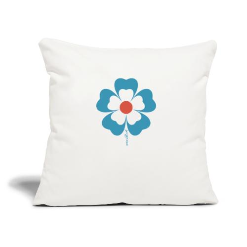 "flower time - Throw Pillow Cover 18"" x 18"""