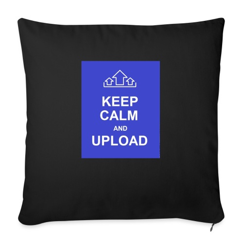 "RockoWear Keep Calm - Throw Pillow Cover 17.5"" x 17.5"""