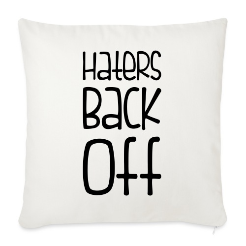"""Miranda Sings Haters Back Off - Throw Pillow Cover 18"""" x 18"""""""
