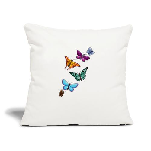 "butterfly tattoo designs - Throw Pillow Cover 17.5"" x 17.5"""