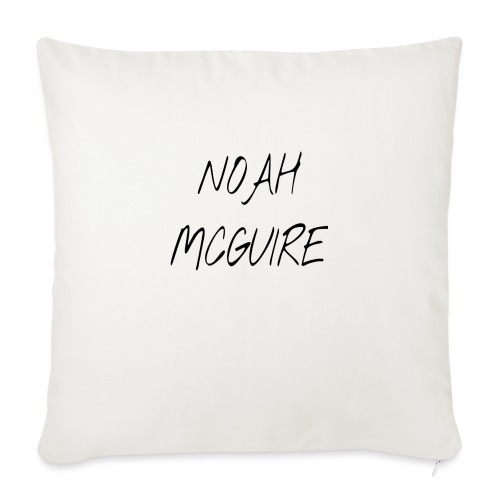 "Noah McGuire Merch - Throw Pillow Cover 18"" x 18"""