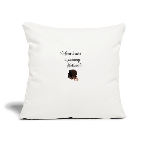 "Praying Mother - Throw Pillow Cover 17.5"" x 17.5"""