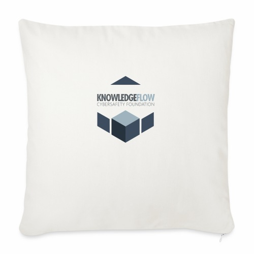 """KnowledgeFlow Cybersafety Foundation - Throw Pillow Cover 17.5"""" x 17.5"""""""
