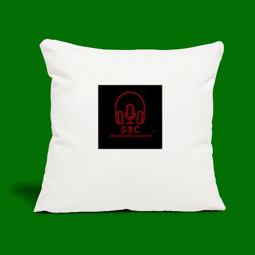 "SPC Logo Black/Red - Throw Pillow Cover 17.5"" x 17.5"""