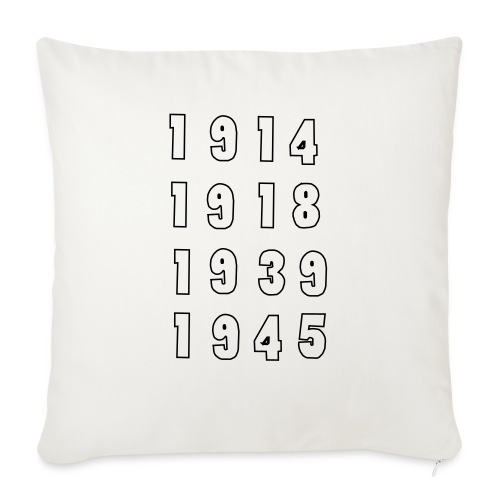 "Great War Dates - Throw Pillow Cover 17.5"" x 17.5"""