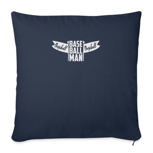 "Baseball Man - Throw Pillow Cover 18"" x 18"""