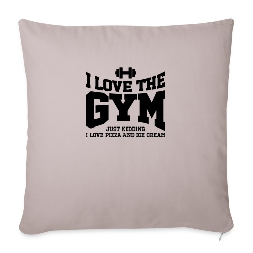 """I love the gym - Throw Pillow Cover 18"""" x 18"""""""