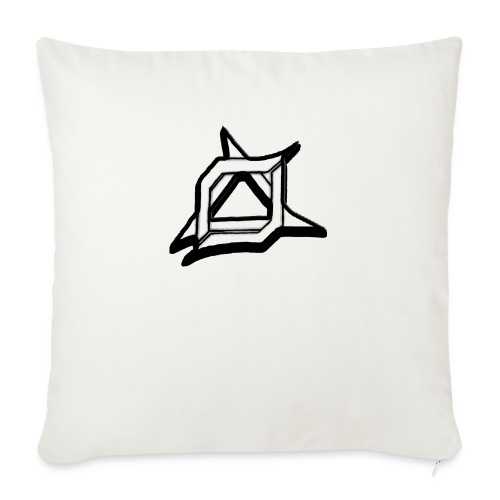 "Oma Alliance Black - Throw Pillow Cover 18"" x 18"""