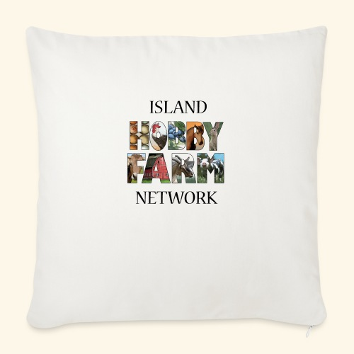 "Island Hobby Farm Black Logo - Throw Pillow Cover 17.5"" x 17.5"""