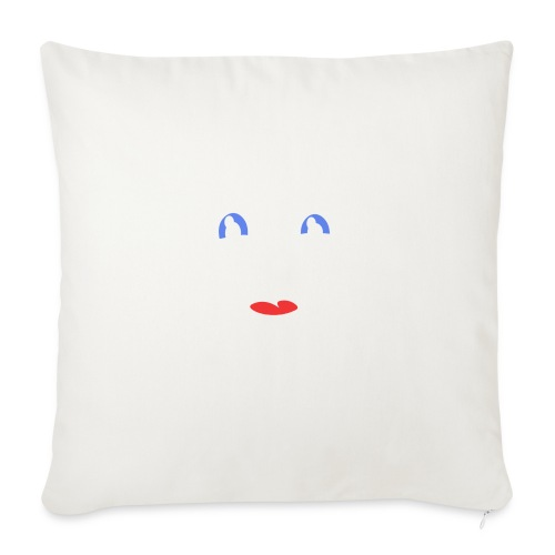 "im happy - Throw Pillow Cover 18"" x 18"""