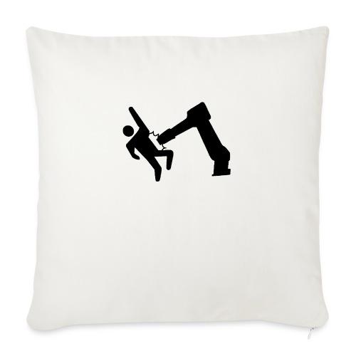 "Robot Wins! - Throw Pillow Cover 17.5"" x 17.5"""