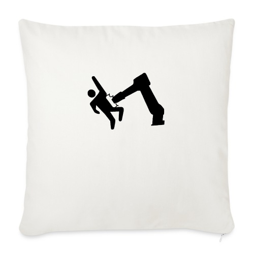 "Robot Wins! - Throw Pillow Cover 18"" x 18"""