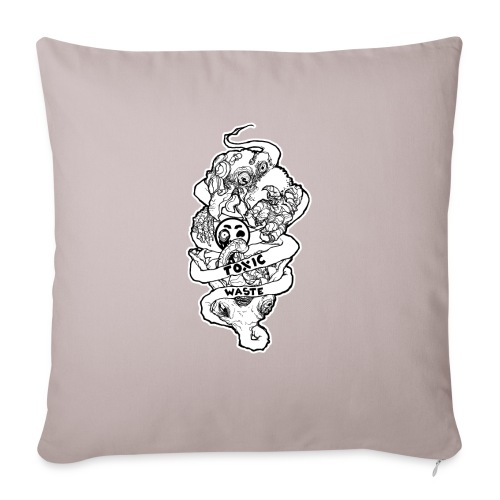 """TOXIC WASTE - Throw Pillow Cover 18"""" x 18"""""""