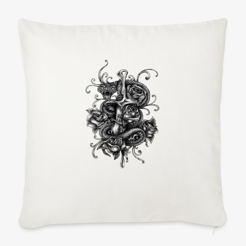 "Dagger And Snake - Throw Pillow Cover 18"" x 18"""