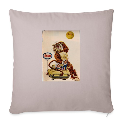 "48d538beb72153486dfd2e84c5050151 stuffed tiger ol - Throw Pillow Cover 18"" x 18"""
