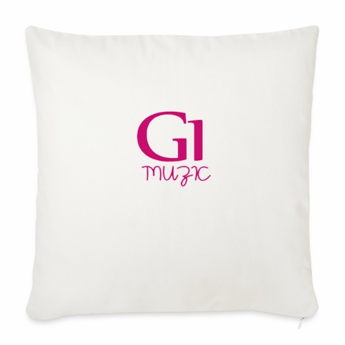 "Pink G1 Muzic - Throw Pillow Cover 18"" x 18"""