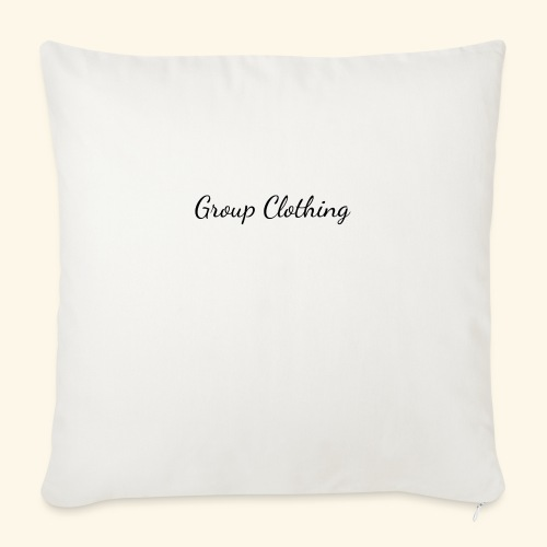 """Cursive Black and White Hoodie - Throw Pillow Cover 18"""" x 18"""""""