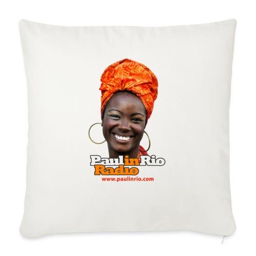 "Paul in Rio Radio - Mágica garota - Throw Pillow Cover 18"" x 18"""