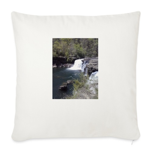 """LRC waterfall - Throw Pillow Cover 18"""" x 18"""""""