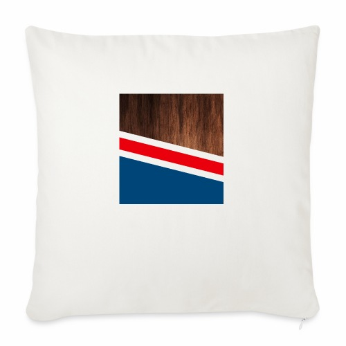 """Wooden stripes - Throw Pillow Cover 18"""" x 18"""""""