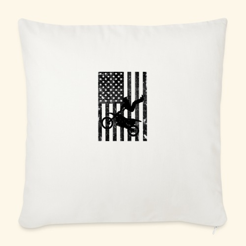 """American Flag (Black and white) - Throw Pillow Cover 18"""" x 18"""""""
